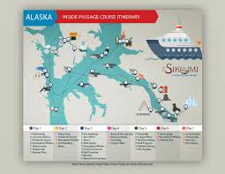 Alaska Inside Passage Map by Best Alaska Cruise Itinerary 7 Day Alaska Cruise Itinerary