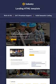 industrial company html5 template