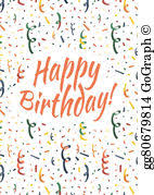 stock illustrations set of happy birthday card covers for
