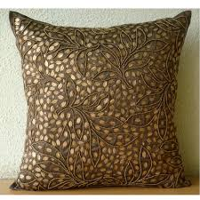 decorative sofa pillows brown throw pillows cover for couch square sequins u0026 beaded