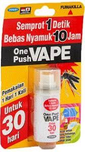 Obat Nyamuk Vape bicara secara nyata fakta si kecil imut one push vape dari pt