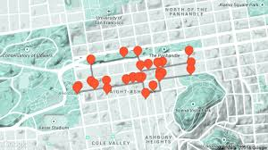 San Francisco Walking Map by Haight Ashbury Travel Tour Audio Guide In San Francisco On