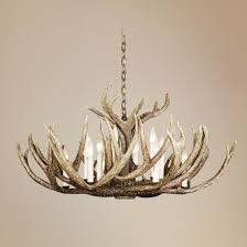 Antlers Lighting Chandelier Lucite Deer Antler 5 Light Chandelier I Clayton Gray Home