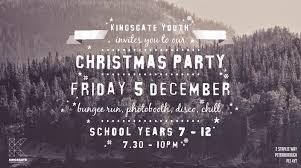 kingsgate youth christmas party flyer alice hampson design