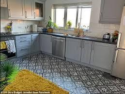 grey kitchen cabinets b q single transforms kitchen kitchen for just 90 using