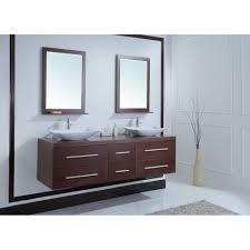 Vessel Sink Cabinets 72 Inch Modern Double Vessel Sink Vanity Iron Wood Finish