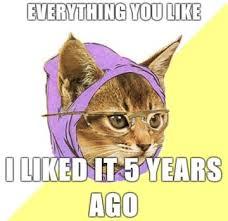 Hipster Kitty Meme - the incarnation of smug the hipster cat meme