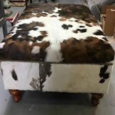 36 X 36 Storage Ottoman Cowhide Ottoman Ebay