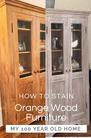 can you stain pine cabinets how to stain orange wood furniture my 100 year home