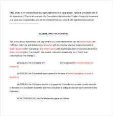 consultant agreement template u2013 11 free word pdf