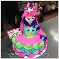 baby shower owl cakes owl themed baby shower cake cake by shey jimenez cakesdecor