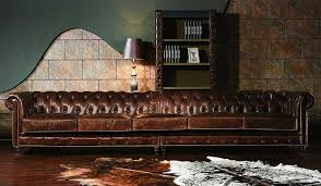 Vintage Leather Sofas Vintage Leather Chesterfield Extra Large Sofa Luxury Delux Deco