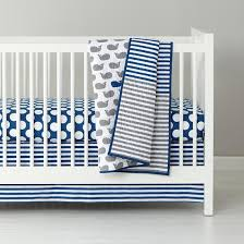 Whale Crib Bedding The Land Of Nod New School Crib Bedding Make A Splash In Crib