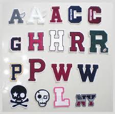 new chenille alphabet letter patches for varsity letterman jacket