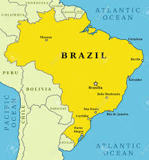 map of brasilia map of brazil country outline with 10 largest cities including