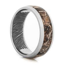 mens titanium rings fingerprint camo ring unique titanium rings more titanium buzz