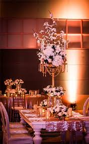 disney wedding decorations candelabras accented with draped crystals make the decor