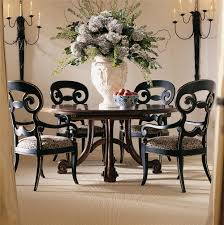 Round Dining Room Table Sets Century Consulate Hortense Round Dining Table Sprintz Furniture