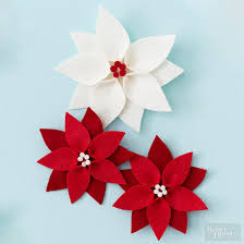 felt poinsettia ornament