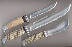 personalized buck knives 1960s set of customized buck hunters bladeforums
