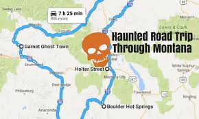 Montana Map With Cities And Towns by Take A Haunted Road Trip To The Scariest Places In Montana