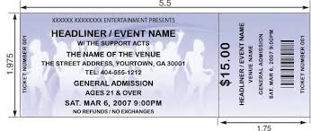 ticket template club ticket template design and print your own event