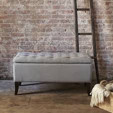 Gray Storage Bench Elegant Grey Bedroom Storage Bench Tilden Storage Bench West Elm
