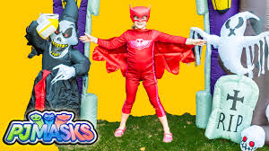 pj mask halloween costumes pj masks spooky assistant hide n go seek halloween adventre video