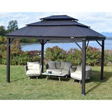 Slaters Furniture Modesto by Corriveau Modesto 10 Ft X12 Ft Galvalume Gazebo