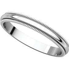 milgrain wedding band 14k gold 2 5 mm milgrain wedding band
