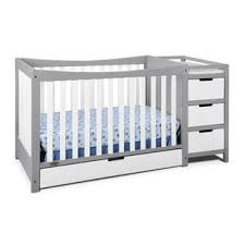 4 In 1 Convertible Crib With Changing Table Modern Contemporary Crib Changing Table Combo Allmodern