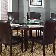 steve silver hartford 72 inch round dining table in dark oak
