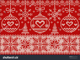new year knitted northern pattern creative stock vector 166113110