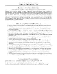 Passed Cpa Exam Resume Diana M Sweetwood Resume 15