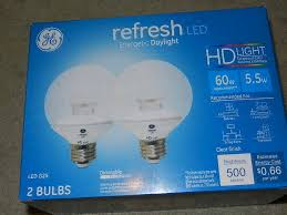 ge hd light refresh 2 pack ge refresh 5 5w 60w daylight hd led g25 globe bulb dimmable
