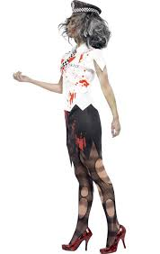 women u0027s police officer zombie costume zombie cop halloween costume