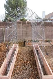 How To Make Trellis For Peas How To Make A Trellis U0026 Raised Garden Box Combo Garden Boxes