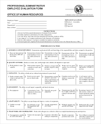 product evaluation form hr forms and templates streamline admin