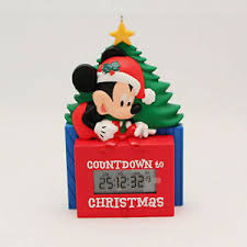 mickey mouse countdown to disney hallmark ornament