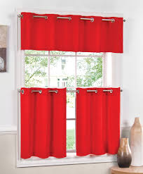 Red And White Curtains For Kitchen Kitchen Curtain Red Decorate The House With Beautiful Curtains