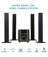 hdmi home theater system india buy black cat supersonic c34 home cinema system 4 1 speaker system