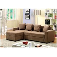 plush sectional sofas furniture of america contemporary brown flannelette sectional sofa set