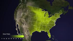 us dewpoint map map with us airports interstate routes and railroads blue