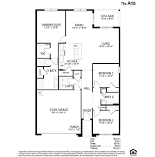 Dr Horton Home Floor Plans Aria Bella Nova Davenport Florida D R Horton