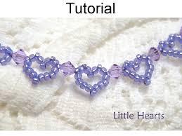 beaded heart bracelet images Beading tutorial pattern bracelet beaded heart jewelry simple 42879