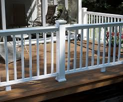 wood plastic composite railing with bars outdoor for patios