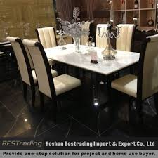 marble and stainless steel dining table modern nature white marble top stainless steel dining table 2 2m