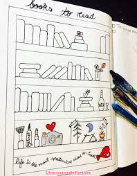 bullet journal bujo reading list setup layout spread page idea 01