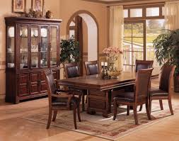 Leather Dining Room Furniture Traditional Table Set For The Dining Room Solid Wood Dining
