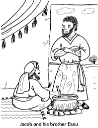 jacob and esau coloring pages u2013 barriee